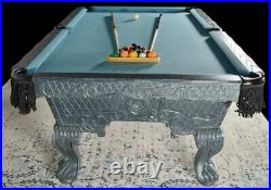 100 Victorian Gray Luxury Pro Pool Table Traditional Billiard Game Table