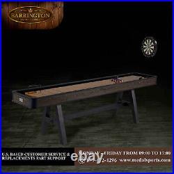 108 Shuffleboard Table with Dartboard Set Wood grain finish Darts Games Man Cave