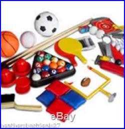 10-In-1 Multi-Game Sport Table Family Kid Fun Bean Bag Football Toss Tennis Pool