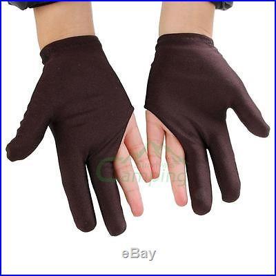 10 X Billiards Gloves Pool Snooker 3 Fingers Gloves Nylon Elastic New #C415