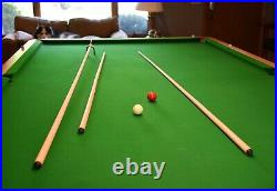 12' x 6' snooker table green felt 1-3/4th inch slate, many additional items