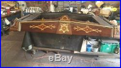 1875 Brunswick Monarch pool table 9 foot antique billiard gameroom arcade