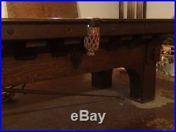 1907-08 Brunswick Balke Collender Arcade Pool Table B. A. Stevens Toledo Ohio