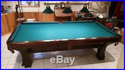 1909 Brunswick Balke Collender Antique Pool Table Rochester Model