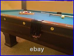 1912 Antique Brunswick Balke Collender Oak Pool Table Vintage Billiards