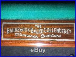 1912 Brunswick Balke Collender Antique Pool Table Rochester Model