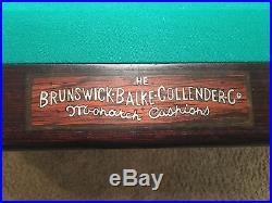 1916 Arts Crafts Brunswick Regina Billiards Pool Table Quarter Sawn Oak