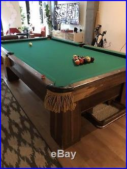 1917 Antique Pool Table Brunswick Regina Balke-Collender Co. Monarch Cushion