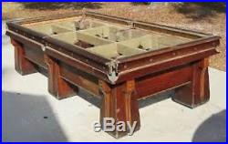 1920 brunswick six leg snooker table