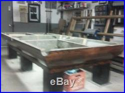 1920's Brunswick 5 x 10 foot pool table