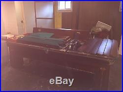 1922 era Brunswick Regina Mahogony 9ft. Tournment pool table