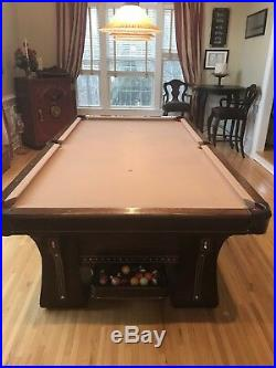 1924 Brunswick Arcade Pool Table 9' x 4.5' Excellent Condition