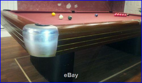 1941 Brunswick Competition Snooker Table 4 1/2' X 9