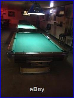 1946 Brunswick 100th Anniversary Pool Table, 4x8, 3 Slates