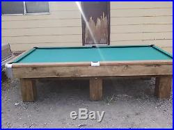 1947 Brunswick Snooker Pool Table Perfect For Man Cave /high Class Room