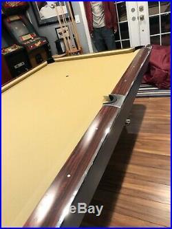 1963 Brunswick gold crown pool table