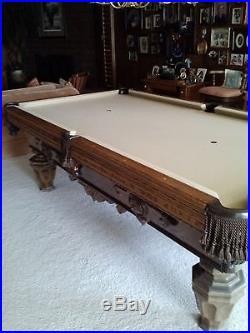 1970 vintage and custom built to order Billiard pool table 8 ft