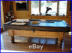 1974 Billiards Pool Table 8' 3-Piece Slate with Accessiories
