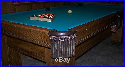 1984 BRUNSWICK Sante Fe, 8' Slate Pool / Billiard Table w/ lots of accessories