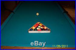1984 BRUNSWICK Sante Fe, 8' Slate Pool / Billiard Table with lots of accessories