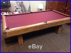 1991 Brunswick Brighton Oak Pool Table Model NE