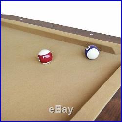 2018 87 Pool Table Billiard Billiards Set Light Cues Balls Chalk Triangle Brush
