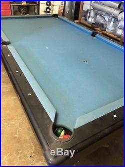 21 OZ. POOL TABLE -BILLIARD CLOTH -FELT 8 Ft PRE CUT ELECTRIC BLUE