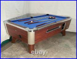 2 -7' Valley Commercial Coin-op Pool Table Model Zd-4 New Blue Cloth