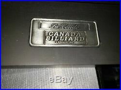 3' X 6' Black La Condo by Canada Billiards dining pool table. Barely used