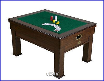 3 in 1 RECTANGULAR GAME TABLE BUMPER POOL, CARD & DINING in WALNUT ~ BRAND NEW