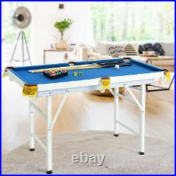 47 Folding Billiard Table Pool Game Indoor Kids With Cues Brush Chalk Game Room