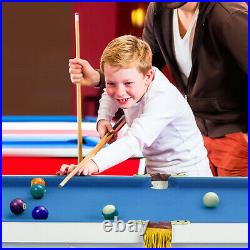 47 Folding Billiard Table Pool Game Table for Kids with Cues & Chalk & Brush
