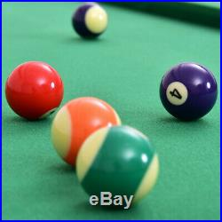 47 in Pool Table Billiard Toys Game Set w 2 Cue Triangle Rack Ball Chalk w Home