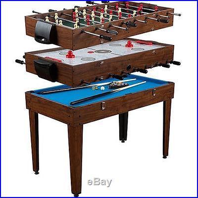 48 3In1 Multi Game Table Billiards Foosball Slide Hockey Billiard Soccer 3 in 1