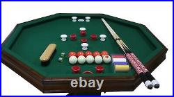 48 3 in 1 GAME TABLE BUMPER POOL, CARDS & DINING in WALNUT BERNER BILLIARDS