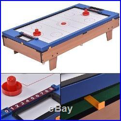 4In1 Multi Game Air Hockey Tennis Football Pool Table Billiard Swivel Indoor New