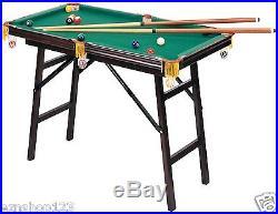 4-Foot Mini Pool Table with Billiard Set