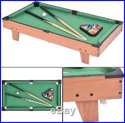 4 In 1 Multi Game Air Hockey Tennis Football Pool Table Billiard Swivel Indoor