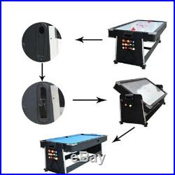 4 in 1 pool table, Air Hockey, Table Tennis and dining table