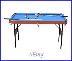 55 Kids Indoor Folding Pool Billiard With Ball Cue Set Snooker Table Game Table