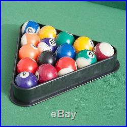 55'' Mini Foldable Pool Table Portable Billiard Table Full Set with Balls