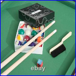 55 in. Portable Folding Pool & Billiards Table Mini Game For Kids Adults Cues