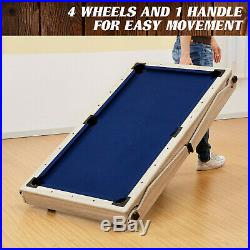 5 FT. Folding Billiard Pool Table With Cue Set And Accessory Kit Home Game Room