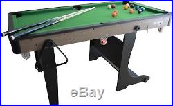 5' Folding Billiard Mini Pool Table Felt Set Accessories included Cues Balls
