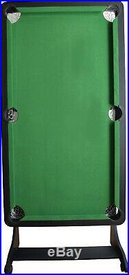 5 Foot Folding Billiard Pool Table Cues Balls Home Game Room Playing Kids Games