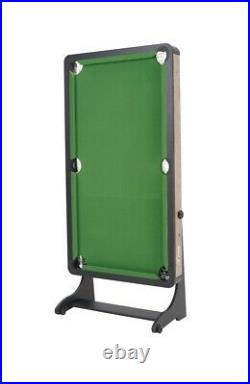 60 Inches Folding Pool Table Airzone With Accessories Green Cloth 6 Pockets NEW