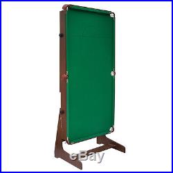 6FT Green Billiard Foldaway Billiard Table Snooker Table pool with Balls and Cue