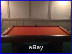 6 1/2' Richmond Red Pool Table by Brunswick with Rack and Cues/Sticks