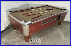 6 1/2' Valley Coin-op Pool Table Model Zd-4 New Red Cloth Also Avail. In 7', 8