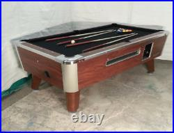 6 1/2' Valley Commercial Coin-op Pool Table Model Zd-4 New Black Cloth